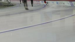 HD2009-12-1-49 Speed skaters practise lower Stock Video Footage