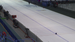 HD2009-12-1-61 Speed skating oval TL Footage
