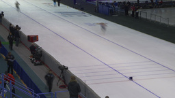 HD2009-12-1-61 Speed skating oval TL Stock Video Footage