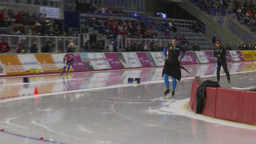 HD2009-12-1-67 Speed skating oval race follow Stock Video Footage