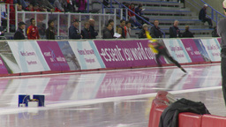 HD2009-12-1-69 Speed skating oval race Stock Video Footage