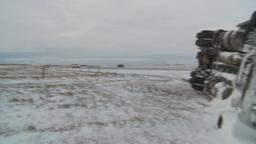 HD2009-12-3-1 rolled semi winter Stock Video Footage