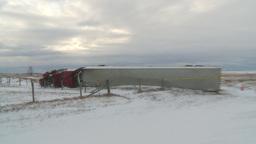 HD2009-12-3-3 rolled semi winter Stock Video Footage