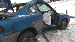 HD2009-2-1-2 auto accident 3-shot Stock Video Footage