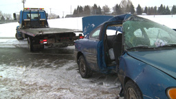 HD2009-2-1-4 auto accident 3-shot Footage