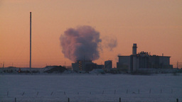 HD2009-2-1-12 power generation plant at sunrise Stock Video Footage