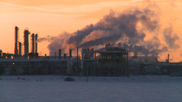 HD2009-2-1-16 Gas Plant At Sunrise stock footage