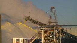 HD2009-2-1-34 sulfur pile steam Stock Video Footage