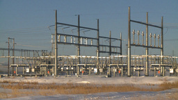 HD2009-2-1-54 elec substation Stock Video Footage