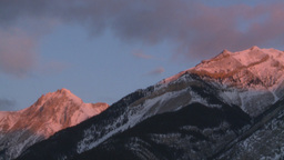 HD2009-1-1-7 sunrise over mtns Stock Video Footage