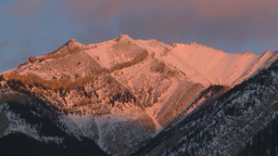 HD2009-1-1-9 sunrise over mtns Stock Video Footage