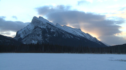 HD2009-1-1-12 sunrise Mt Rundle Banff Footage
