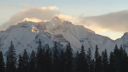 HD2009-1-1-14 snow mtn Banff Z Stock Video Footage