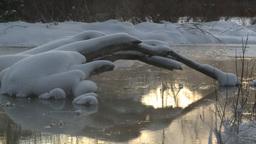 HD2009-1-1-25 sunrise Mt Rundle winter spring Banff Z Footage