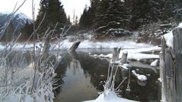 HD2009-1-1-29 sunrise winter spring Banff Stock Video Footage