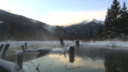 HD2009-1-1-31 sunrise winter spring Banff Stock Video Footage