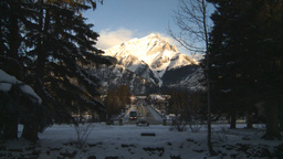 HD2009-1-1-33 Banff town icon shot Footage