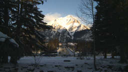 HD2009-1-1-33 Banff town icon shot Stock Video Footage