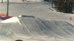 HD2009-1-1-41 Banff snowboard jump Footage