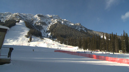 HD2009-1-1-48 Banff ski hill to chalet Stock Video Footage