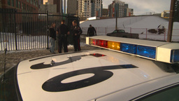 HD2009-1-5-2 police and person Stock Video Footage