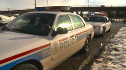 HD2009-1-5-4 police car Stock Video Footage