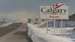 HD2009-1-5-8 calgary sign highway Footage