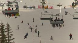 HD2009-1-5-14 ski hill ski jump tower Stock Video Footage