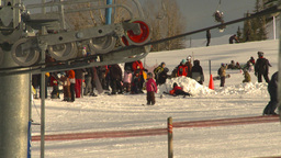 HD2009-1-5-18 ski hill ski lift gears Z Stock Video Footage