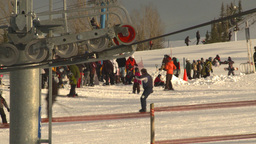 HD2009-1-5-18 ski hill ski lift gears Z Footage