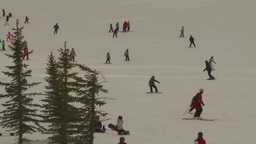HD2009-1-5-20 ski hill Stock Video Footage