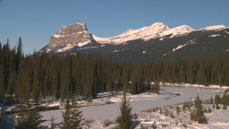 HD2009-1-6-12 river and snow mtns Stock Video Footage