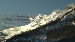 HD2009-1-6-24 Lake Louise snow mtn Stock Video Footage