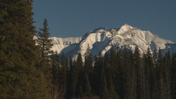HD2009-1-6-32 snow mtn forest Stock Video Footage