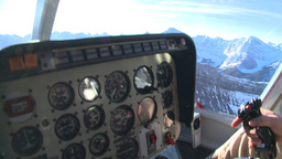 HD2009-1-7-2 heli gauges cockpit Stock Video Footage