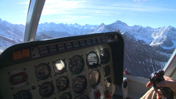 HD2009-1-7-2 heli gauges cockpit Stock Video Footage