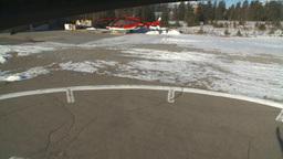 HD2009-1-7-4 heli landing Stock Video Footage