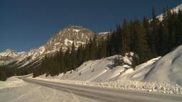 HD2009-1-7-16 snow mtn highway no car Footage