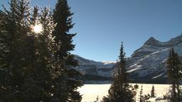 HD2009-1-7-22 snow mtn snow tree sun Stock Video Footage