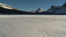 HD2009-1-8-4 Bow Glacier lake pan Stock Video Footage