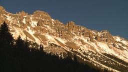 HD2009-1-8-30 snow mtn near sunet Stock Video Footage