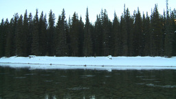 HD2009-1-8-36 snow river Stock Video Footage