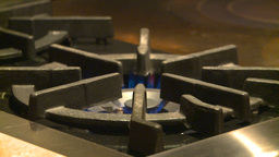 HD2009-1-9-2 stove gas flame Stock Video Footage