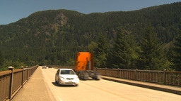 HD2009-7-1-4 highway traffic over bridge Stock Video Footage