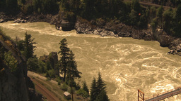 HD2009-7-1-8 hells gate canyon aerial Stock Video Footage