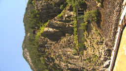 HD2009-7-1-16 VERTICAL hells gate canyon cable car Stock Video Footage