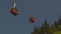 HD2009-7-1-24 cable car Stock Video Footage