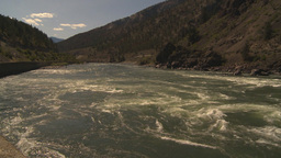 HD2009-7-1-38 whitewater rapids river pan Stock Video Footage