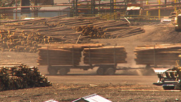 HD2009-7-2-14 log truck Stock Video Footage