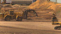 HD2009-7-2-16 log mill montage Stock Video Footage